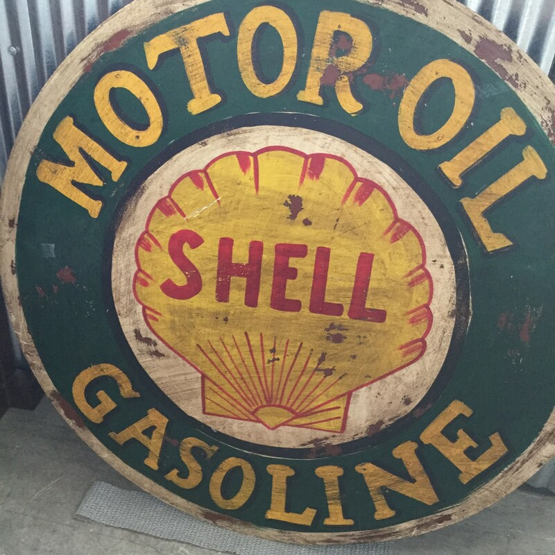 Shell Motor Oil Sign.