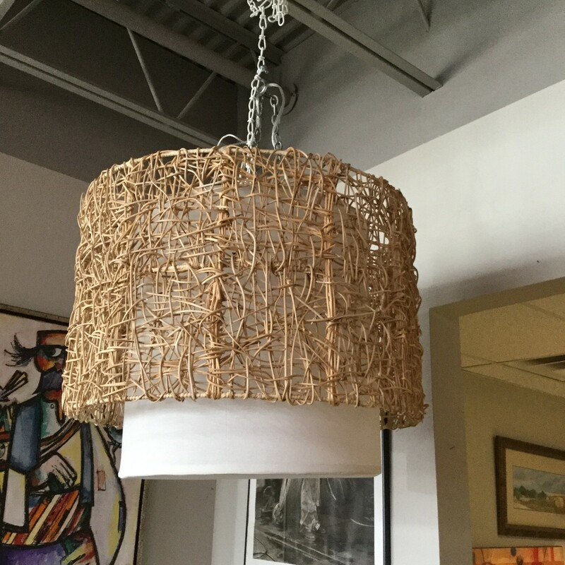 Anthro Woven Chandelier.