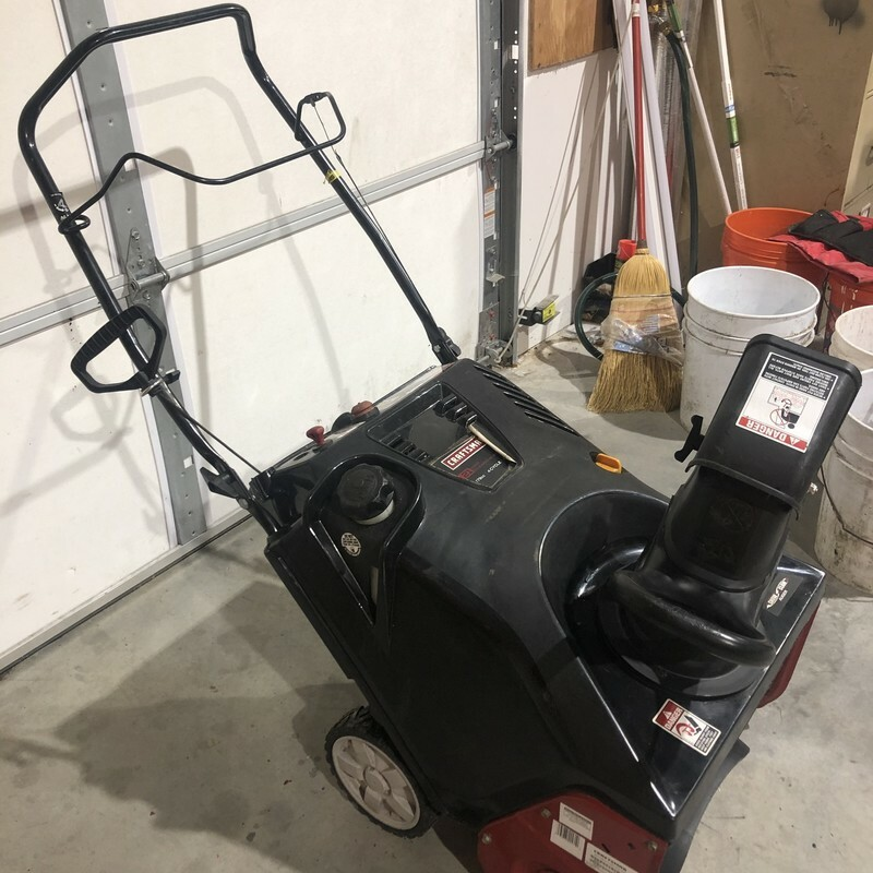 CRAFTSMAN 21-in 179cc 4-Cycle Single-Stage Gas Snow Blower with Push-Button Electric Start