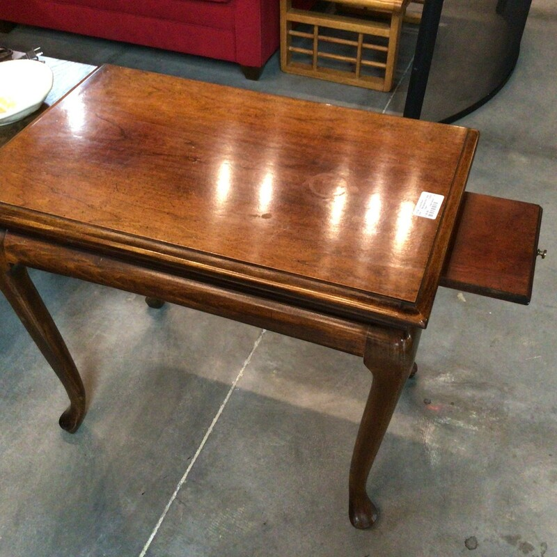 "Rectangle End Table, Cherrywood<br /> 18"" wide x 28"" deep x 24"" tall"