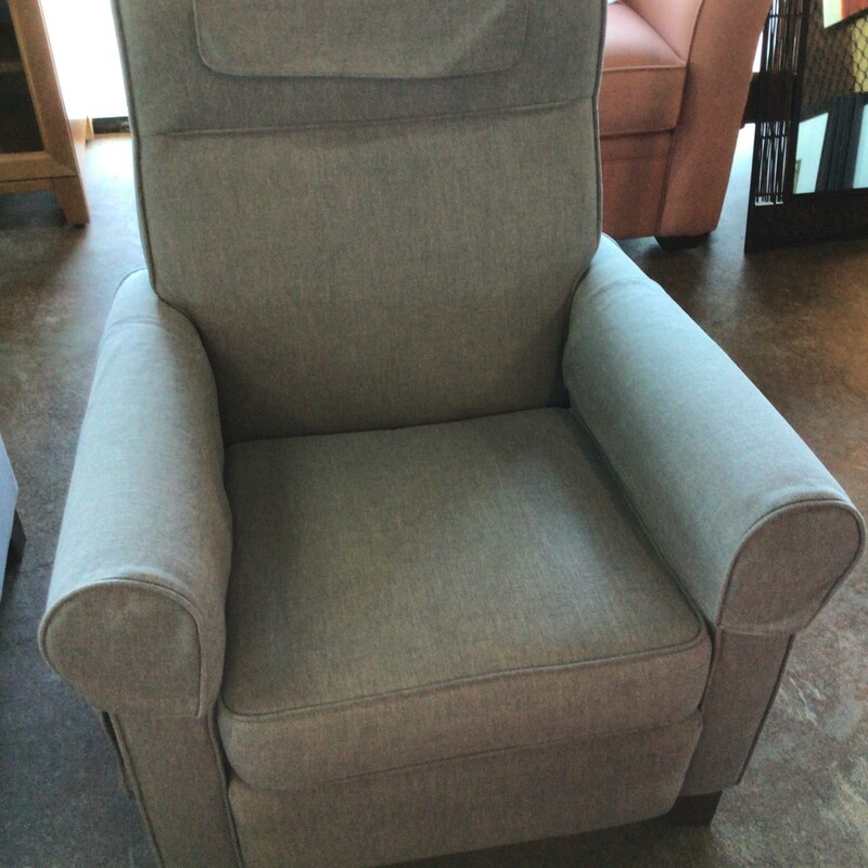 "Gray Recliner, Gray, Pocket Holder<br /> 32"" wide"