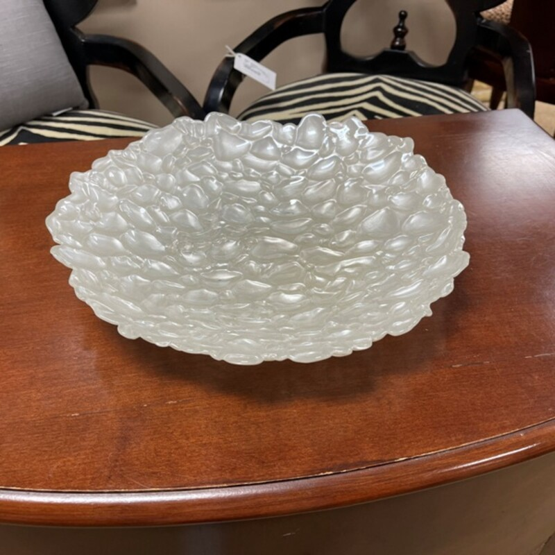 Pebbled Glass Platter.