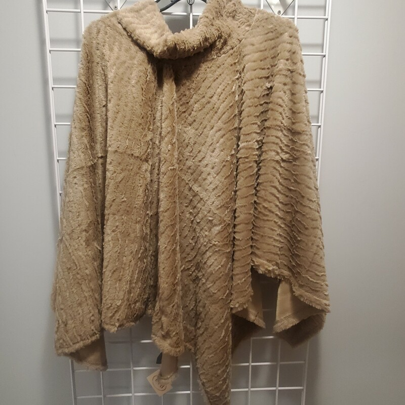 Beige SuperSoft Cape One Size New w tag