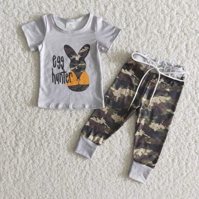 2pc Camo Bunny Pant Set, Camo, Size: 6 Boy