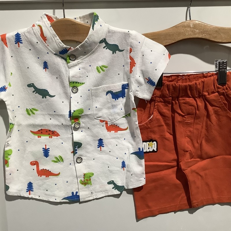 2pc Short Set, Multi, Size: 3-6m Boy