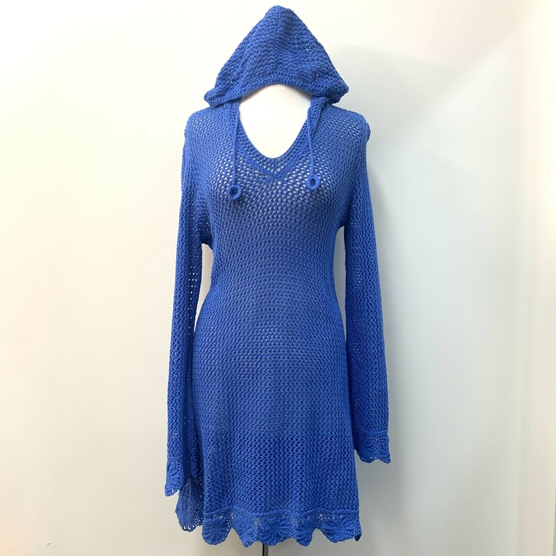 Athleta Dress<br /> Hooded<br /> Blue Knit<br /> Size: Large