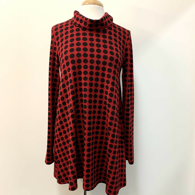 Isle Polka-Dot Tunic<br /> Boutique<br /> Red & Black<br /> Size: Medium