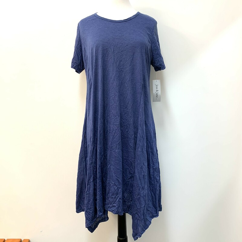 NEW Jess&Jane Dress<br /> Blue Crinkle style<br /> Size: Medium