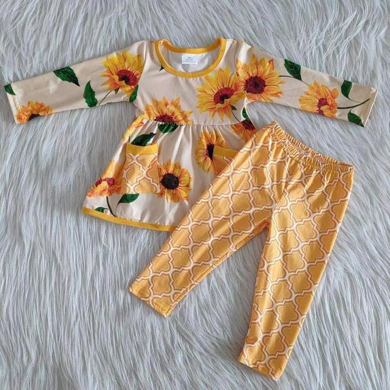 2pc Sunflower Dress Set.