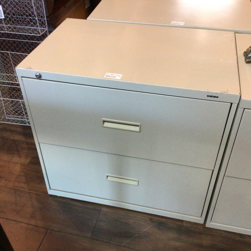 "2 Drawer Lateral File, Cream, Hon<br /> 30"" wide x 19"" deep x 28"" tall"