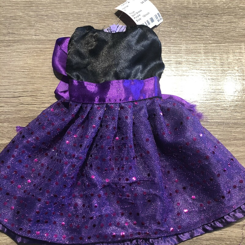 Doll Dress, Purple, Size: 12inch