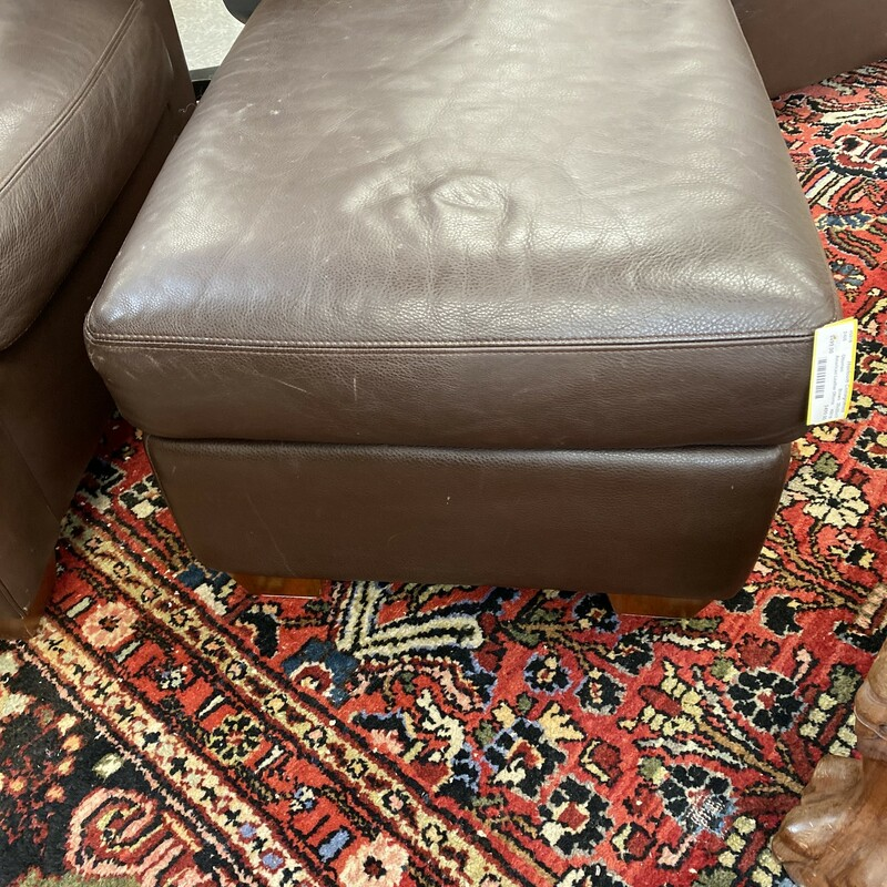 American Leather Ottoman.