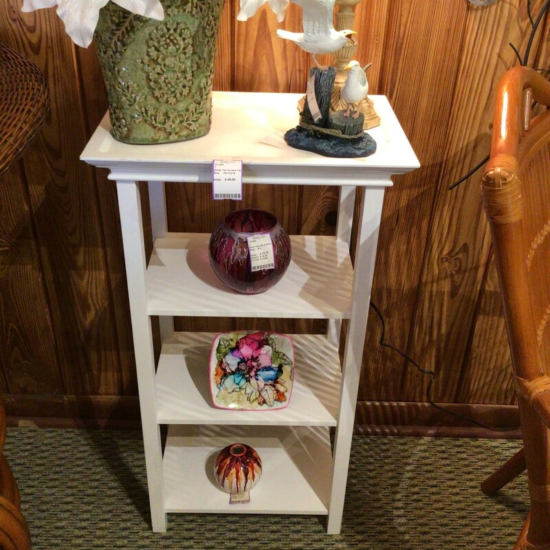White Tier Accent Table.