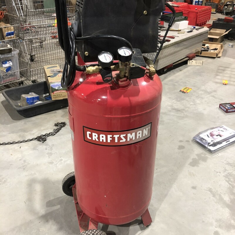 Craftsman 26 Gallon 150 PSI Vertical Tanbk Air Compressor. 3.8 SCFM @ 90 PSI, 5.1 SCFM @ 40 PSI
