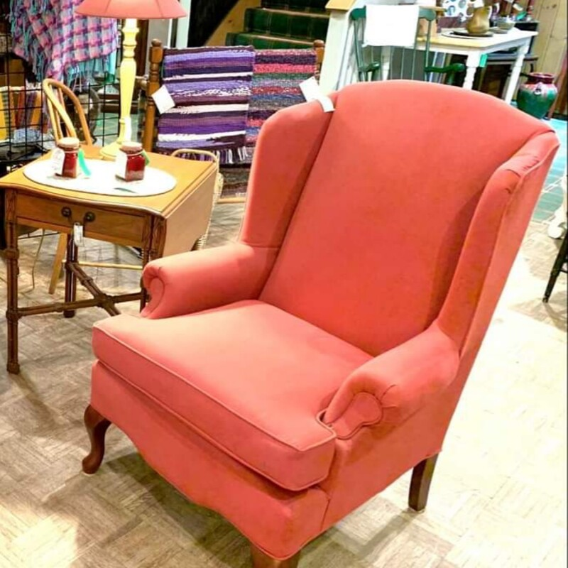Red Wingback Chair.