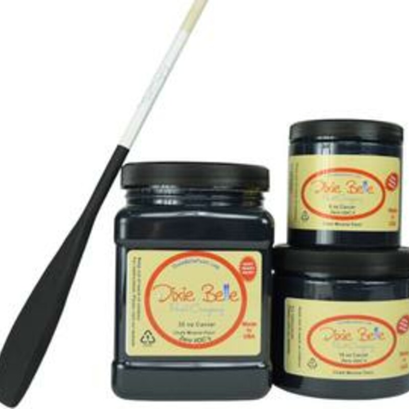 Dixie Belle Caviar Chalk Mineral Paint. Matte Black Chalk Paint Furniture; Decor; Wood; Metal; Glass; Ceramic; Fabric; or Cabinet Paint.<br /> <br /> Caviar is a true; matte black. This rich color exudes elegance and can be paired with any paint color or style.