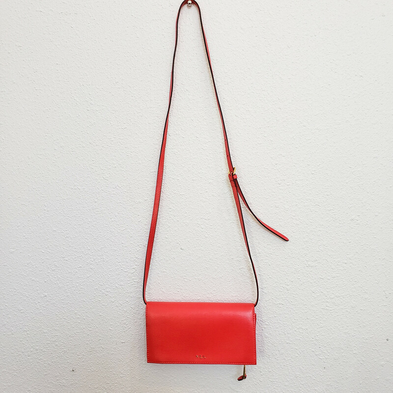 Ralph Lauren<br /> Red Crossbody with Gold Hardware