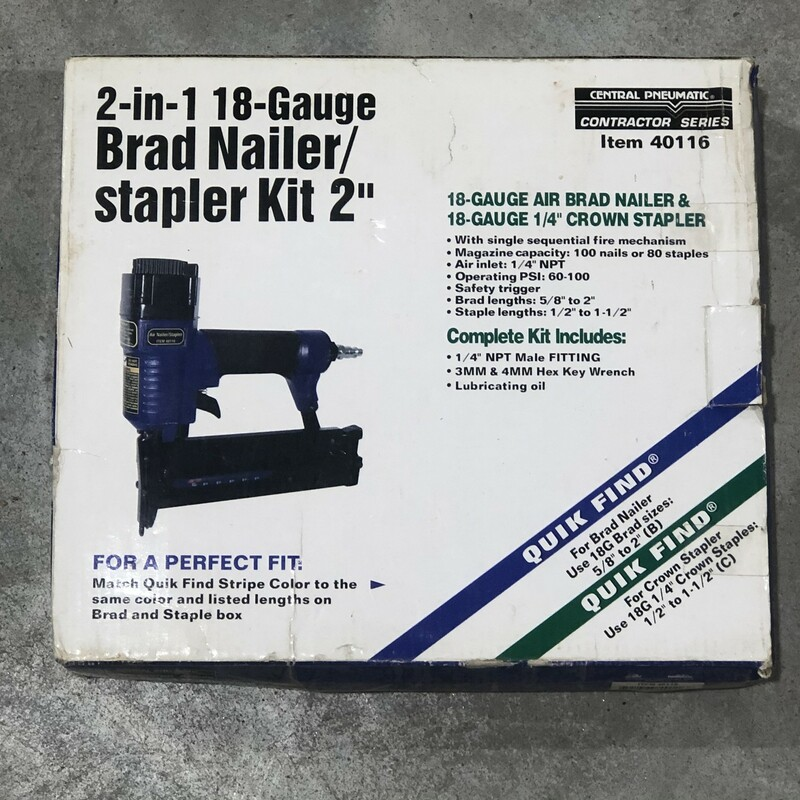 2-In-1 Air Nailer/Stapler.