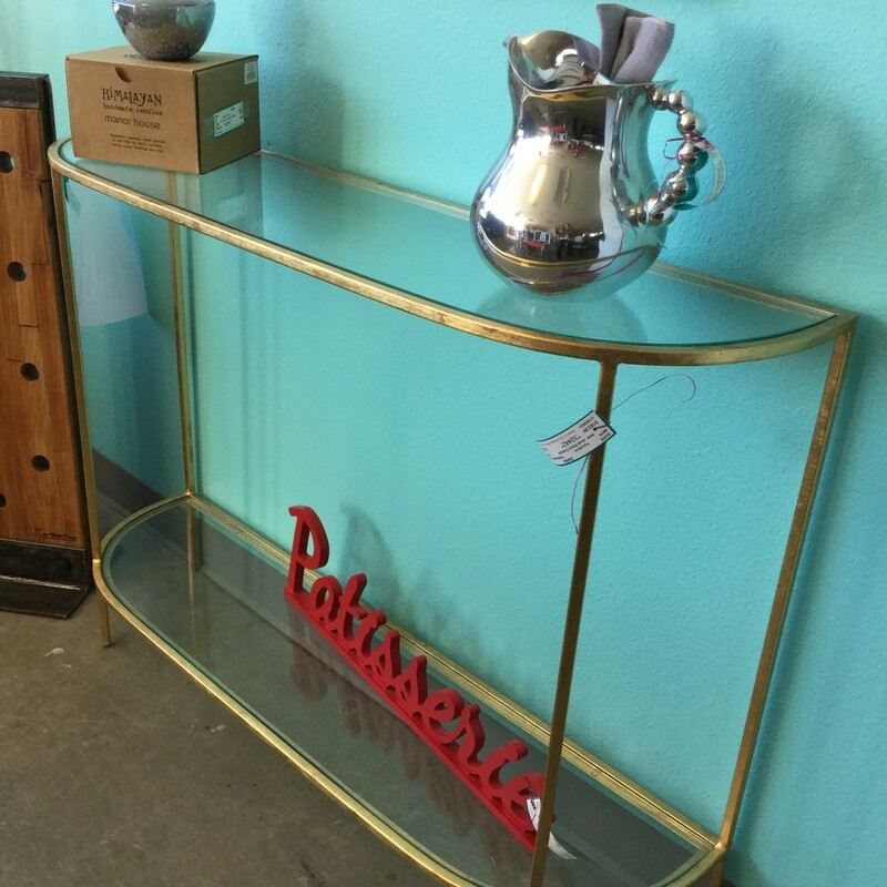 Gold Glass Console.