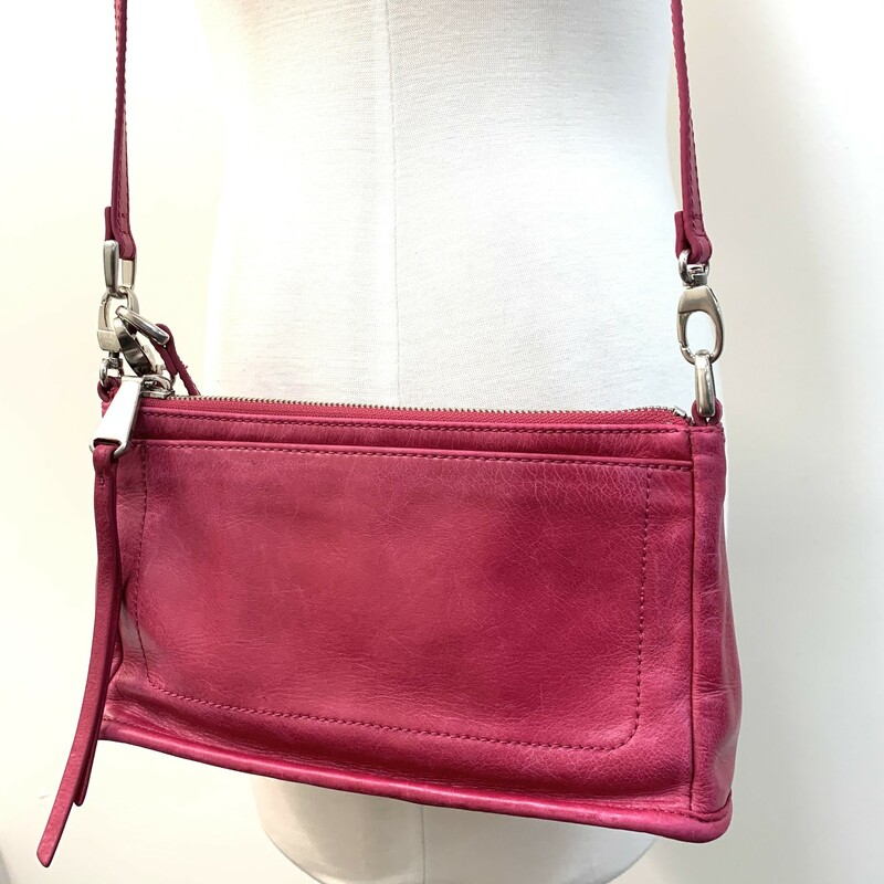 Hobo International Bag<br /> Hot Pink Leather<br /> Shoulder Style<br /> Crafted in vintage hide leather that only gets more beautiful over time with use and wear.
