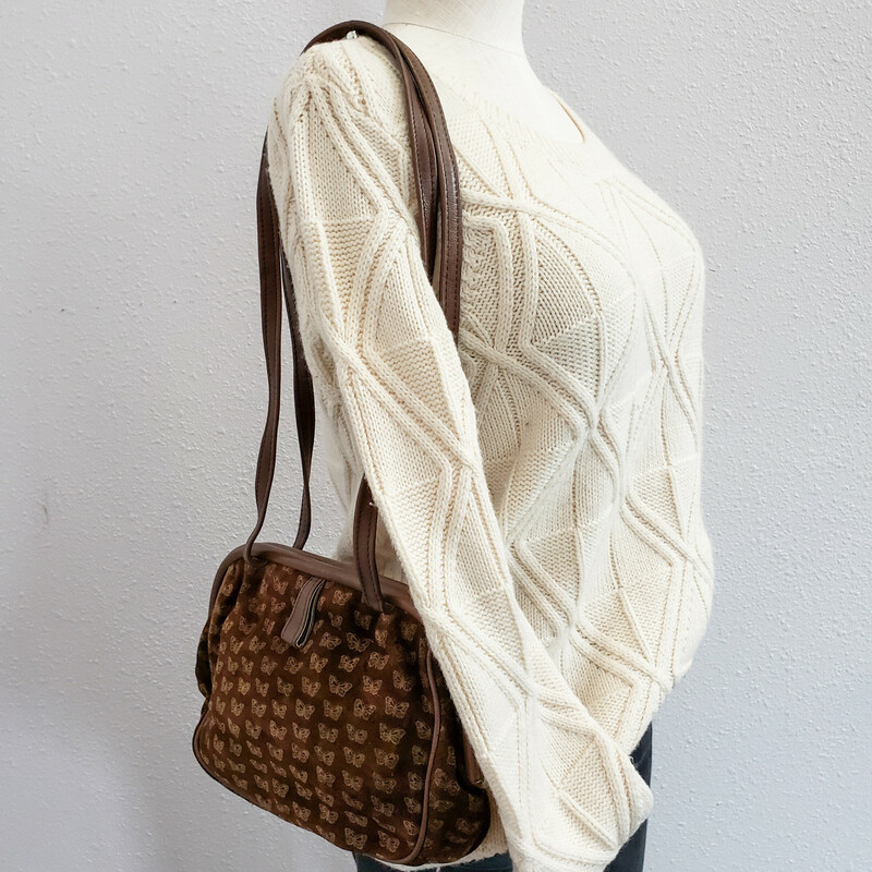 Bottega Veneta<br /> VINTAGE<br /> Butterfly Purse<br /> Brown