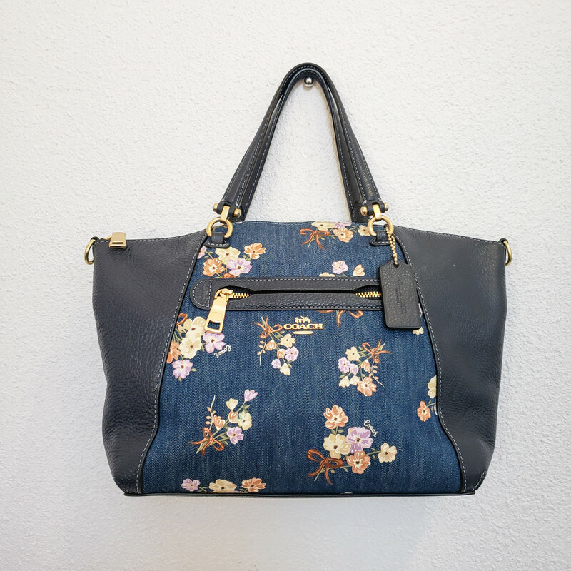 Coach<br /> Floral Denim<br /> Small Tote