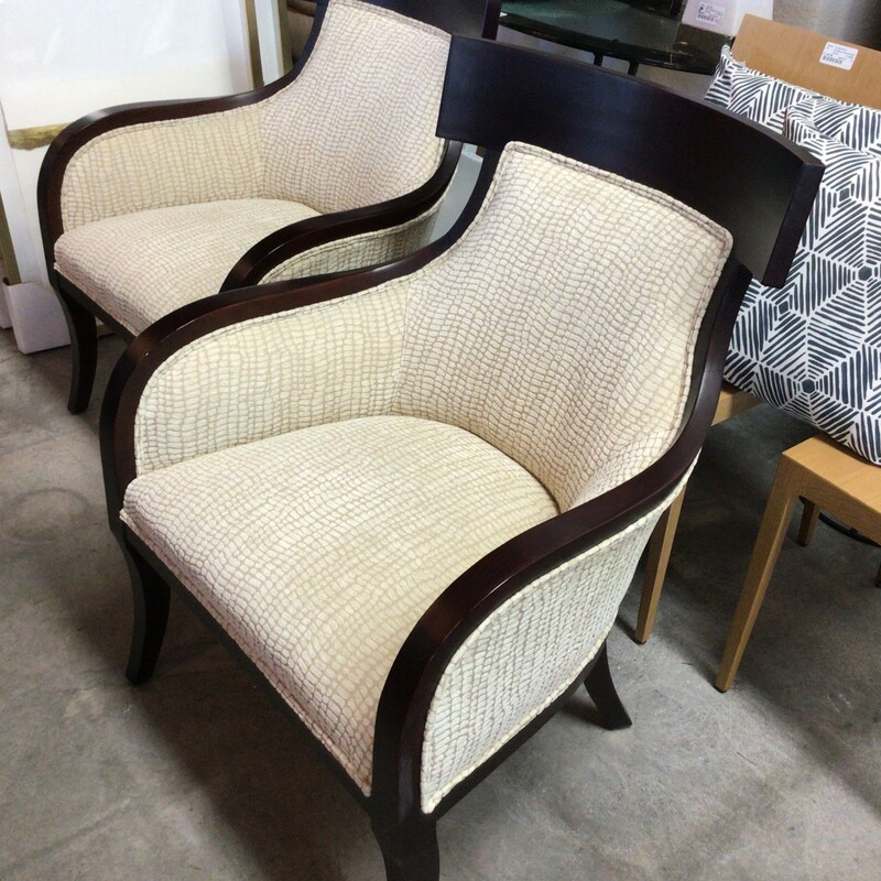 Patterned Barrel Chair.