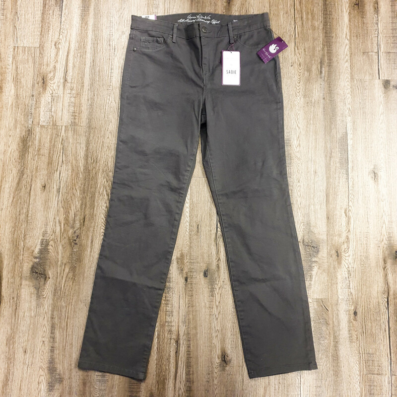 "Beautiful Gloria Vanderbild Jeans.<br /> - Brand new<br /> - ""Sadie"" style<br /> - Gray color<br /> - Real back pockets<br /> - Stretchy<br /> - Waist circumference: 33 in.<br /> - Length: 39 in.<br /> - Size Large/12<br /> <br /> * Please note that these measurements and pictures are for reference only and may vary slightly from the original."