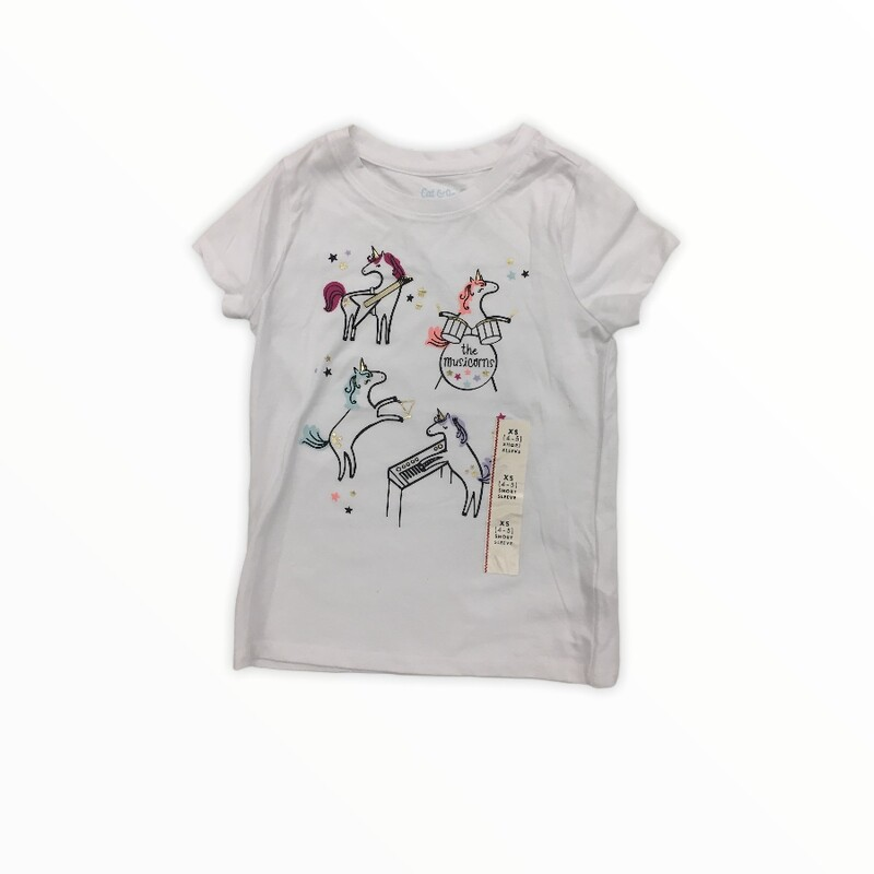 Shirt (Unicorn) NWT, Girl, Size: 4/5<br /> <br /> #resalerocks #catjack #pipsqueakresale #vancouverwa #portland #reusereducerecycle #fashiononabudget #chooseused #consignment #savemoney #shoplocal #weship #keepusopen #shoplocalonline #resale #resaleboutique #mommyandme #minime #fashion #reseller                                                                                                                                      Cross posted, items are located at #PipsqueakResaleBoutique, payments accepted: cash, paypal & credit cards. Any flaws will be described in the comments. More pictures available with link above. Local pick up available at the #VancouverMall, tax will be added (not included in price), shipping available (not included in price), item can be placed on hold with communication, message with any questions. Join Pipsqueak Resale - Online to see all the new items! Follow us on IG @pipsqueakresale & Thanks for looking! Due to the nature of consignment, any known flaws will be described; ALL SHIPPED SALES ARE FINAL. All items are currently located inside Pipsqueak Resale Boutique as a store front items purchased on location before items are prepared for shipment will be refunded.