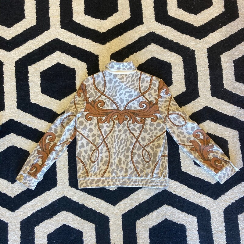 St. John Jacket: Subtle gold sheen makes this piece stand out on top of copper and ivory tones.  Size small.