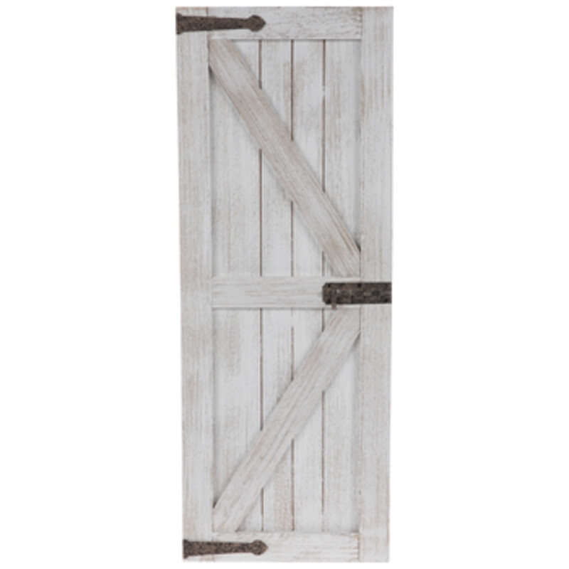 White Barn Door Wall Deco.