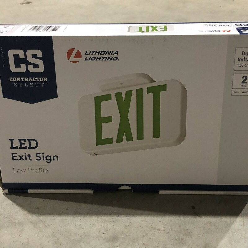 LED Exit Sign.