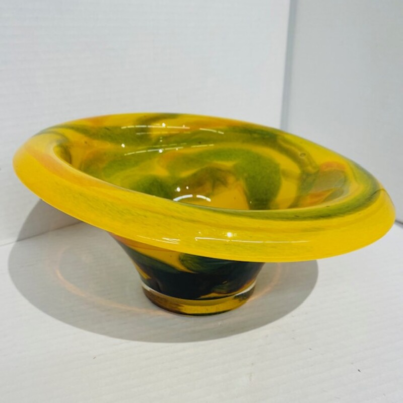 Funky Artisan Glass Bowl.