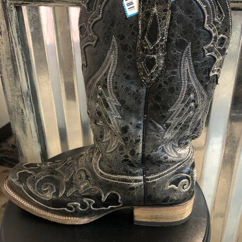 Blk Western Boot Size: 9.5