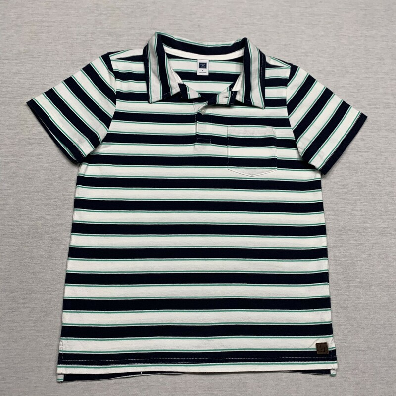 Striped Polo Shirt.