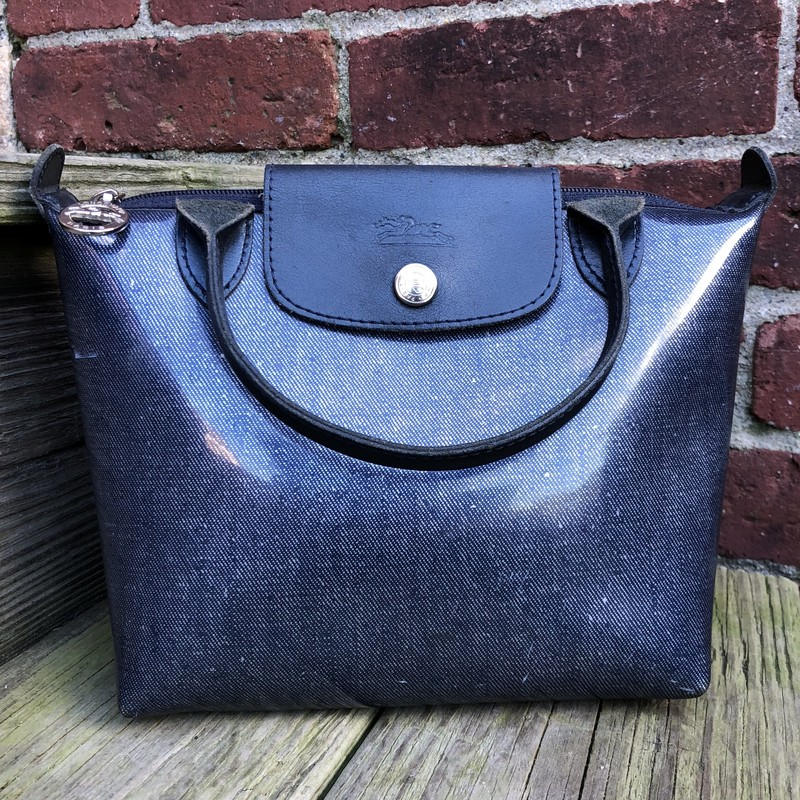 Longchamp MiniTote Blue, Blue, Size: Small<br /> Excellent used condition!