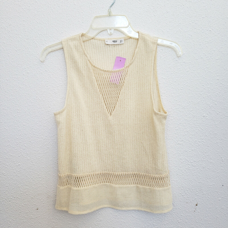 MNG, Cream, Size: Small