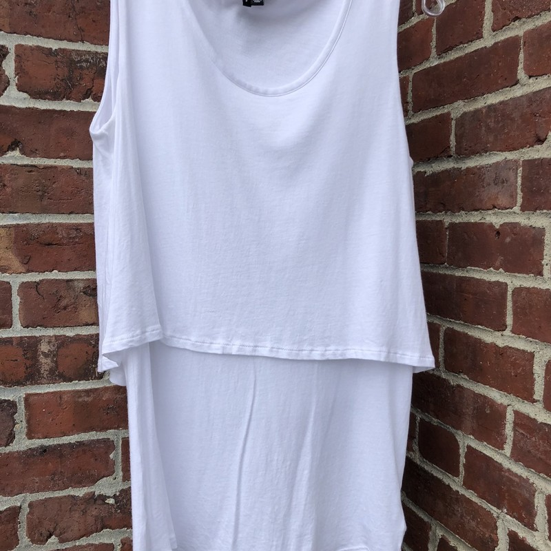 Theory Layered Tank, White, Size: Small<br /> Essential