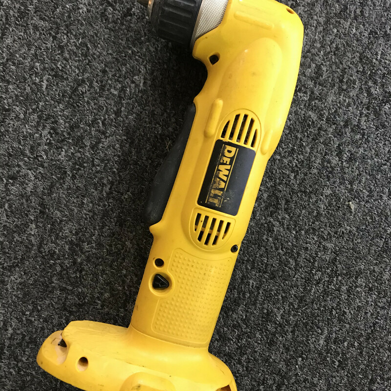"Right Angle Drill Driver, DeWalt, Size: 3/8""<br /> DeWALT DW960 18V 3/8"" VSR Cordless Right Angle Drill Driver TOOL ONLY"