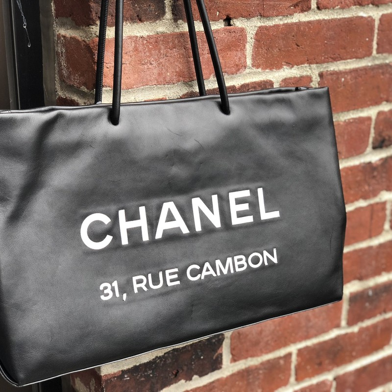Chanel Rue Cambon Tote, Black, Size: .Chanel<br /> 10&quot; tall, 17&quot; wide, 5&quot; deep, 8&quot; strap drop.<br /> Very good condition.<br /> NO FURTHER REDUCTIONS, FIRM PRICE<br /> Final Sale
