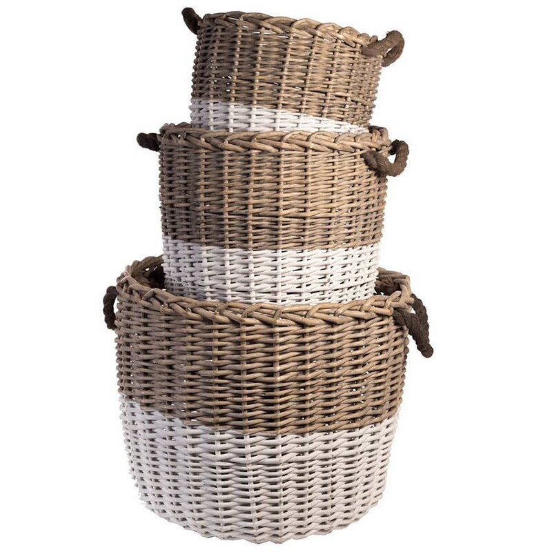 Willow Basket Dipped Whi.