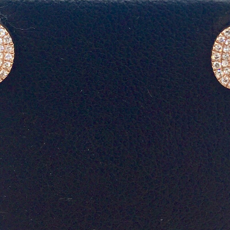 14KT ROSE GOLD<br /> APX. 1/5CTTW PAVE STYLE STUD EARRINGS<br /> <br /> <br /> <br /> <br /> 14KT RG 1/5TW STUD EAR, ROSE, Size: AHK