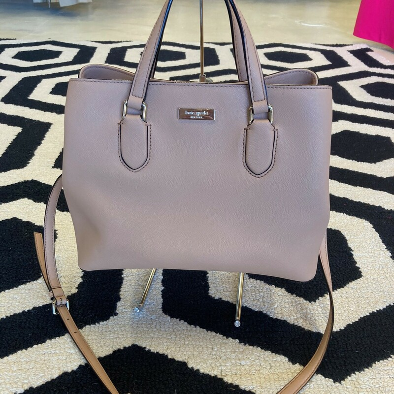 Kate Spade Purse- This just in!! A classic Kate Spade in perfect condition.  No signs of use.  Peachy beige color. Carries crossbody, shoulder, or handbag. Small/medium size.