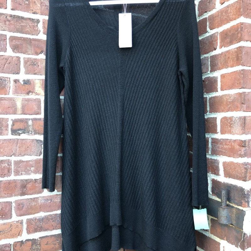 Eileen Fisher Sweater NWT, Black, Size: Medium<br /> New with $238 TAGS Vneck long sweater tunic