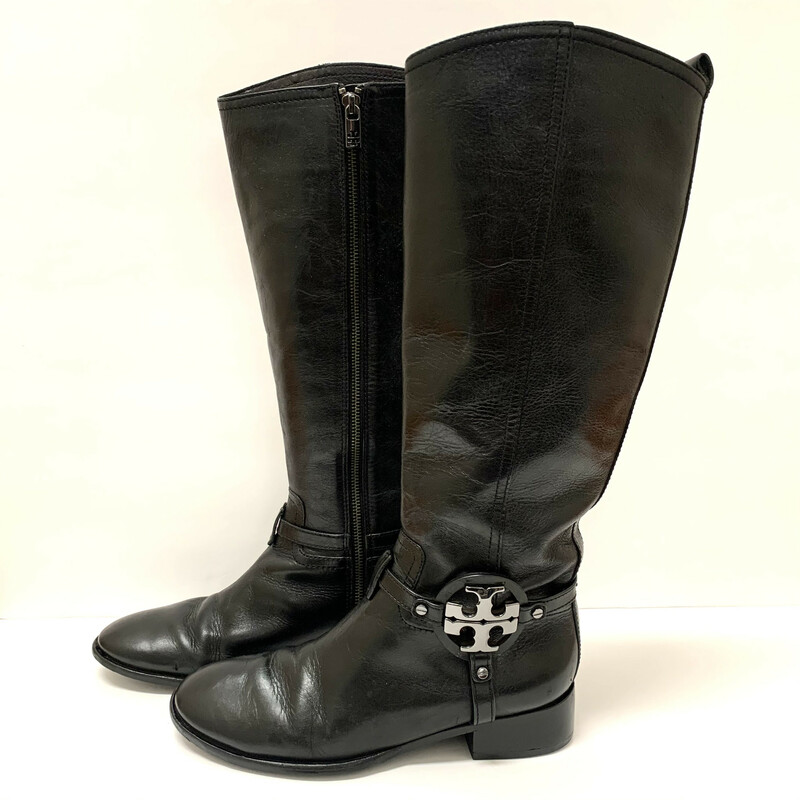 Tory Burch Boots<br /> Black  Leather<br /> Size: 9