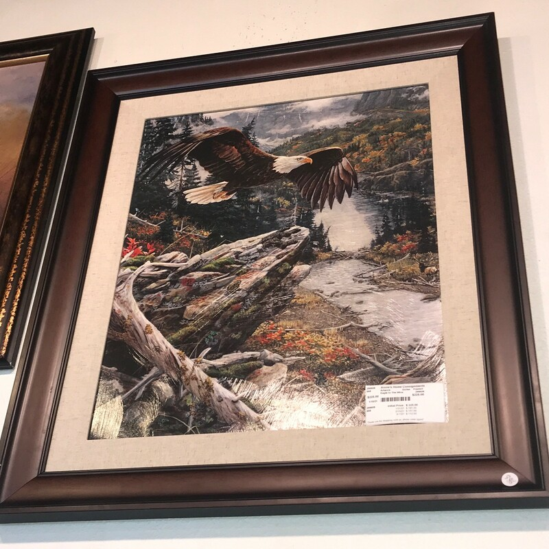 "Eagle In The Mtns, Giclee, Framed<br /> Size: 33"" x 29"""