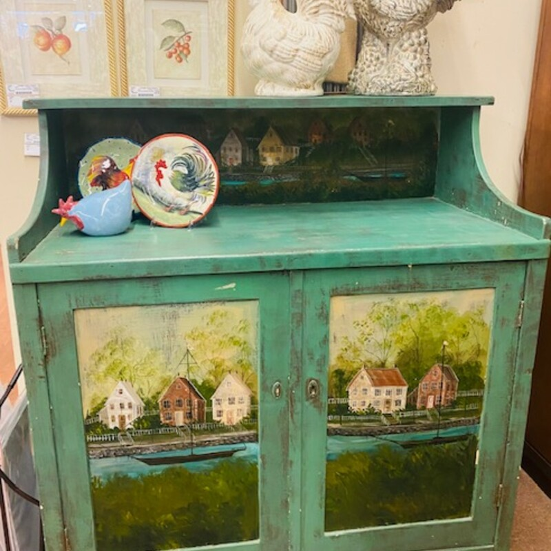 Fr Country PaintedCabinet.