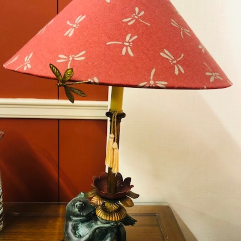 FCooper Bronze Frog Lamp.