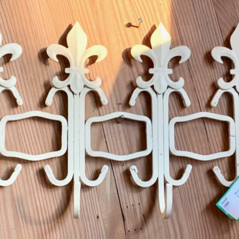 Wrought Iron Wall Rack.