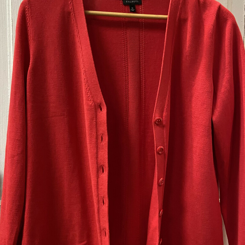 Red Button Cardi.